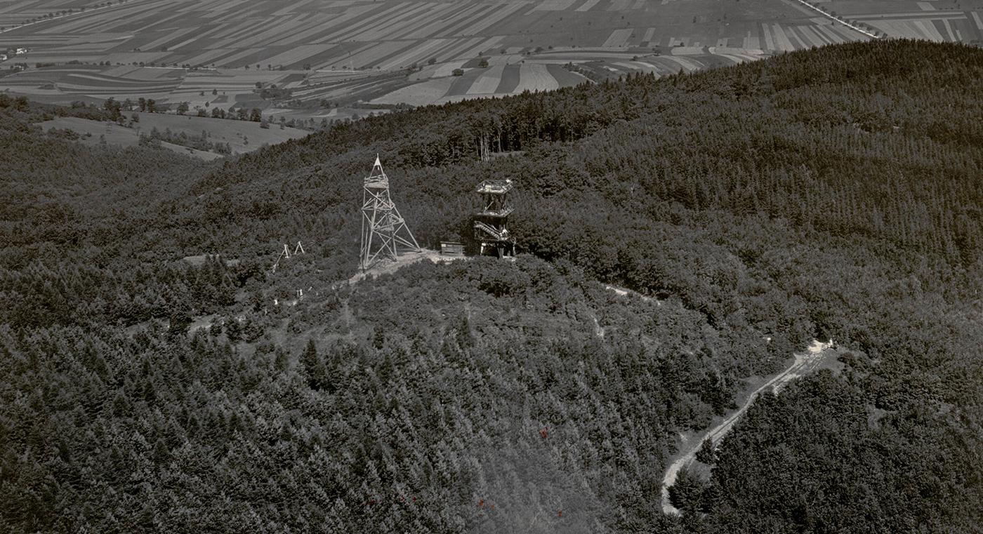 Die damalige Aussichtswarte auf dem niederösterreichischen Tulbingerkogel